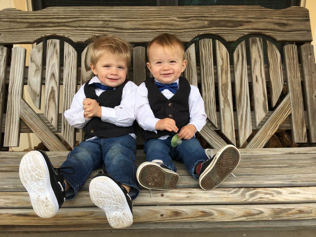 Kids on Porch Swing