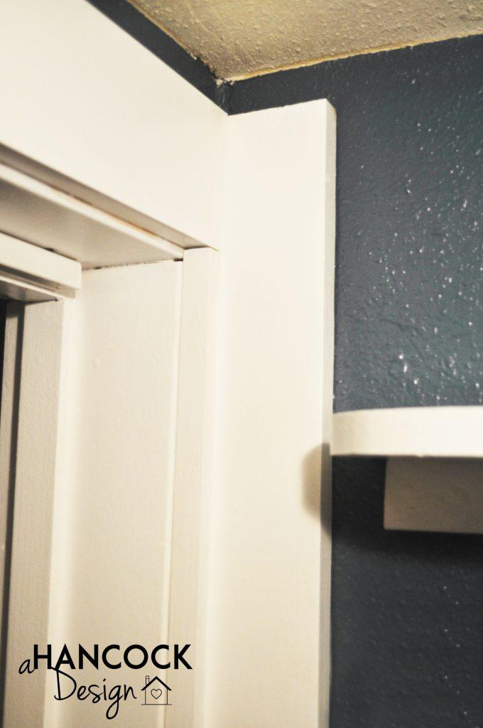 Pantry New Door Trim Baseboard