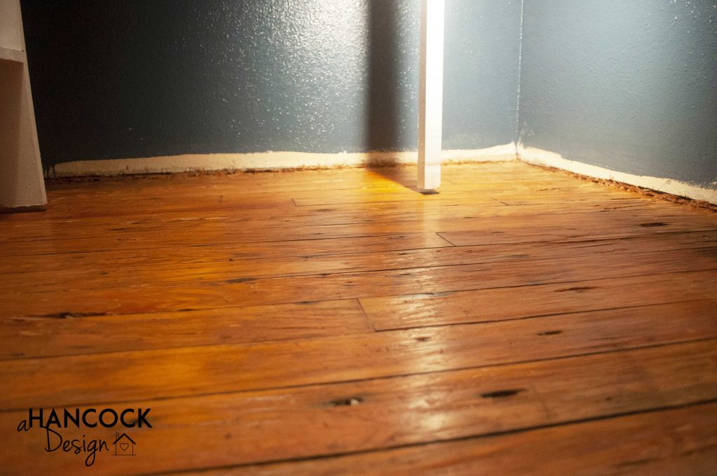 Pantry flooring cleaned up