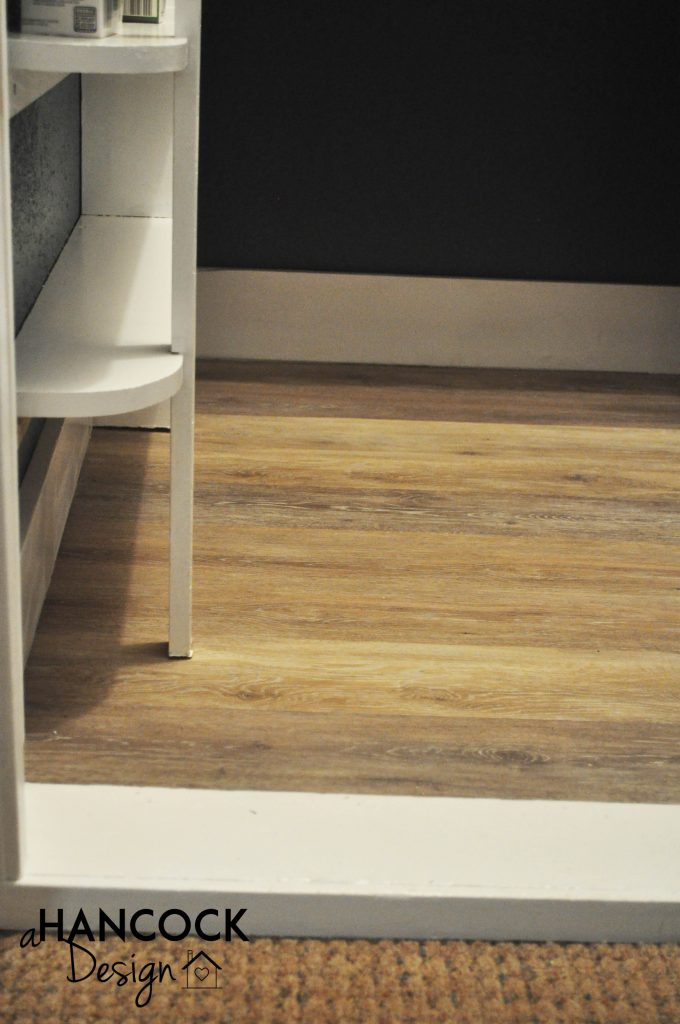 Luxury plank vinyl flooring trim