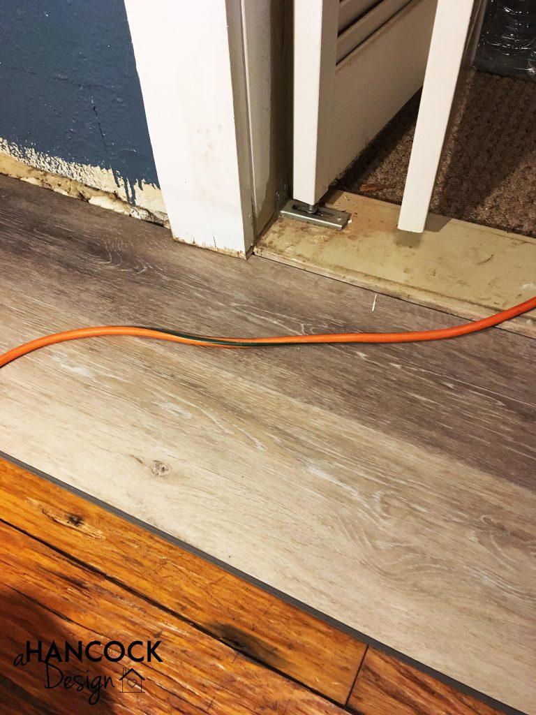 Install luxury vinyl plank flooring