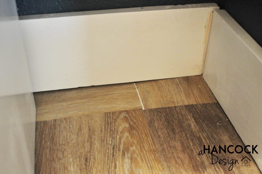 Pantry luxury vinyl plank patching