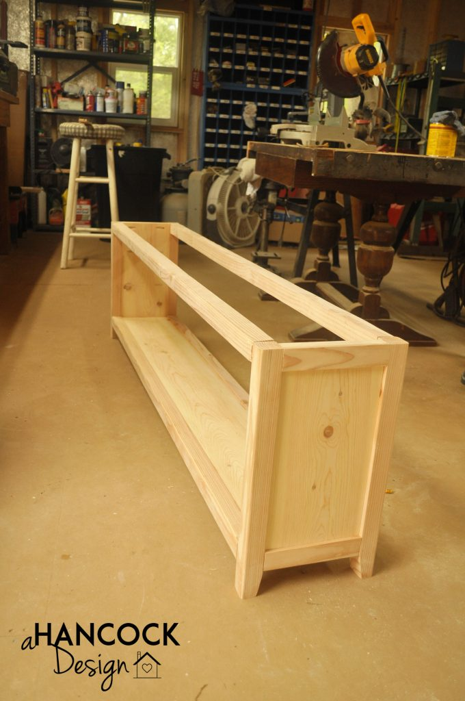 Custom DIY footboard taking shape