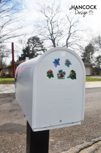 Mailbox Paw Patrol stickers