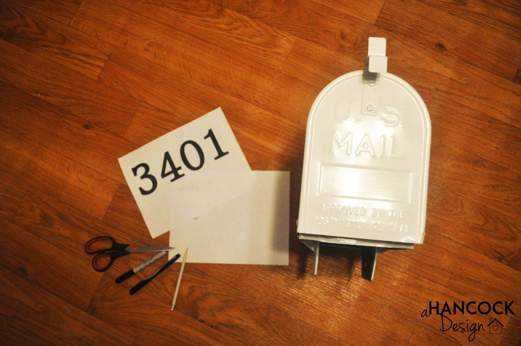 Mailbox DIY stencils