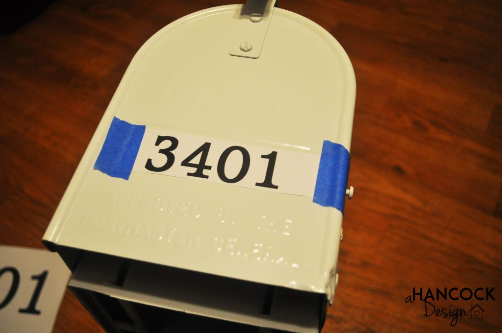 Mailbox DIY stencil numbers