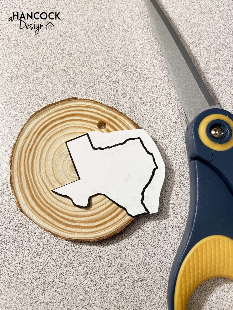 Wood slice ornament painting progress