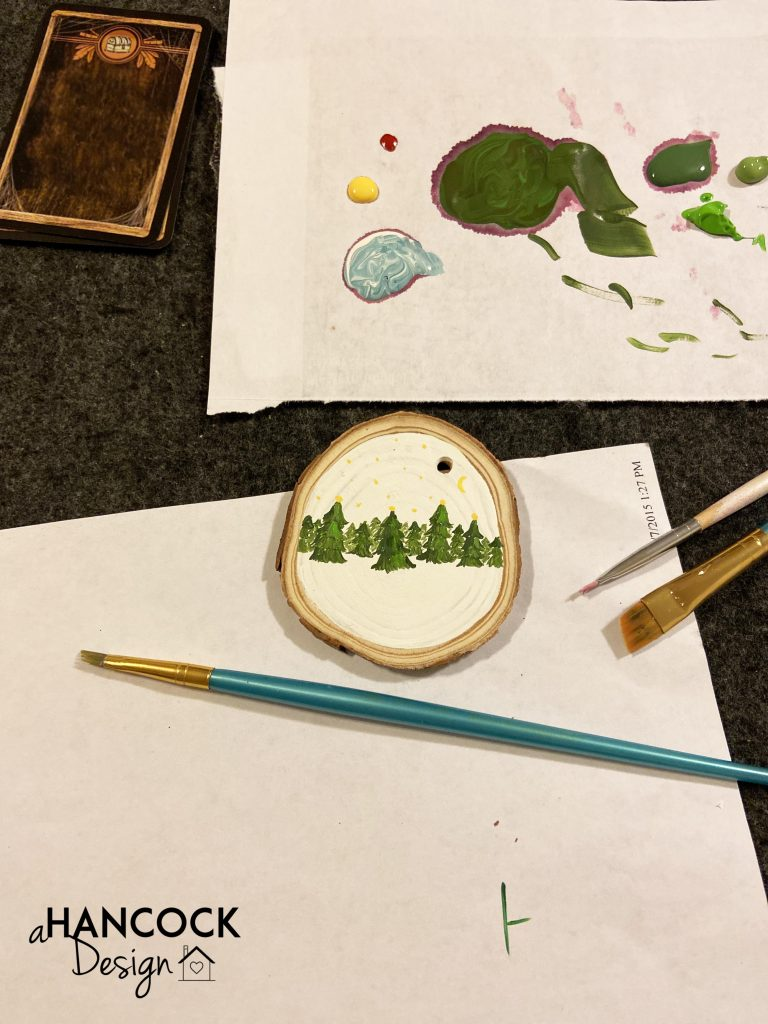 Wood Slice Ornament painting