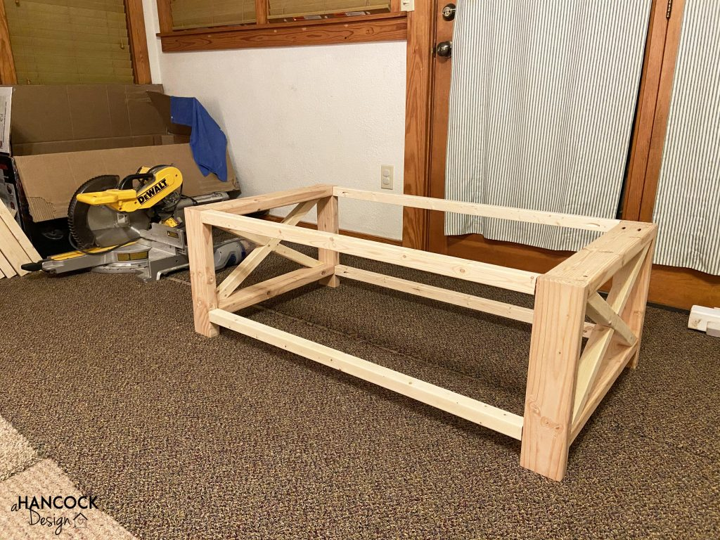 Coffee table X ends built