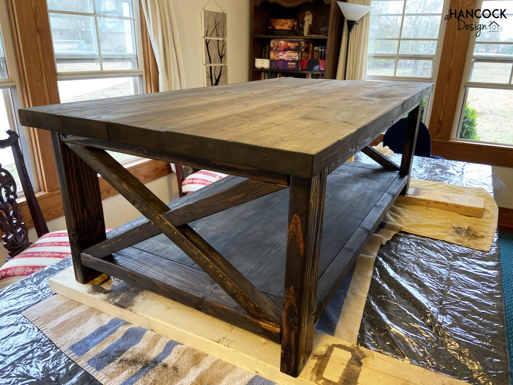 Coffee table stained