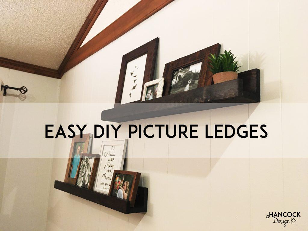 Easy DIY Picture Ledges