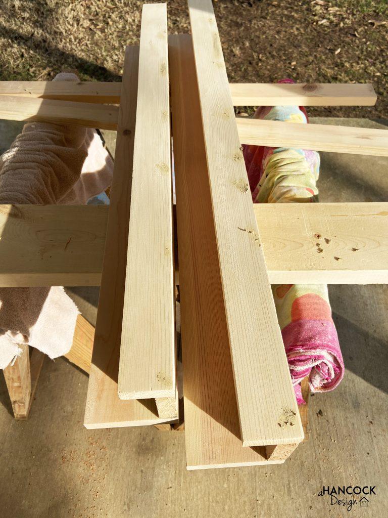 Picture Ledges - wood filler