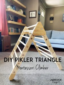 montessori pikler triangle diy